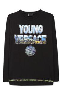 Хлопковый лонгслив с принтом Young Versace