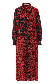 Шелковое платье-миди с принтом Givenchy