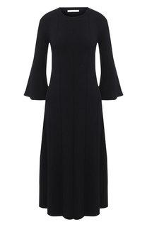 Платье-миди с укороченным рукавом BOSS