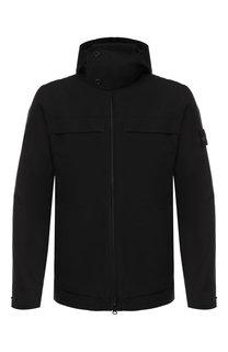 Пуховая куртка на молнии с капюшоном Stone Island