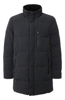 Пуховая куртка на молнии с воротником-стойкой Emporio Armani