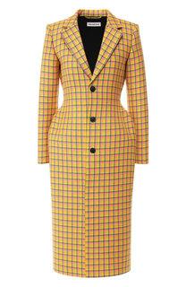 Шерстяное пальто в клетку Balenciaga