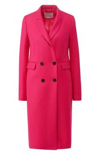 Двубортное шерстяное пальто BOSS