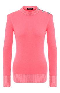 Кашемировый пуловер с круглым вырезом Balmain