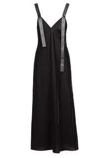 Черное платье макси Off White