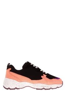 Кроссовки с контрастной шнуровкой O.X.S.