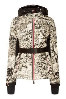 Черно-белая стеганая куртка Moncler