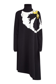 Платье с высоким воротником Valentino