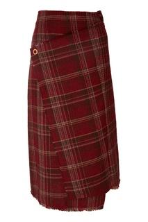 Твидовая юбка с эффектом запаха Acne Studios
