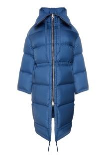 Синее пуховое пальто Acne Studios