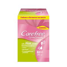 CAREFREE Салфетки Супертонкие Aloe extract в индивидуальной упаковке