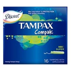TAMPAX Compak Тампоны женские гигиенические с аппликатором Super Duo