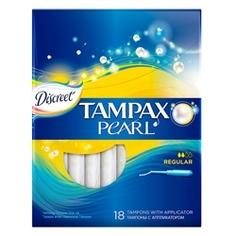 TAMPAX Discreet Pearl Тампоны женские гигиенические с аппликатором Regular Duo