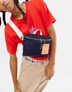 Джинсовая сумка через плечо ограниченной серии Weekday - Синий