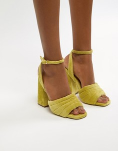 Босоножки на каблуке ASOS DESIGN - Желтый