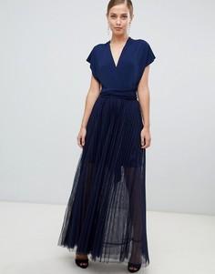 Платье макси из тюля Coast Corwin - Темно-синий