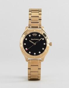 Золотистые часы со стразами Juicy Couture - Золотой