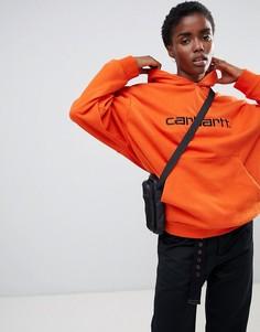 Худи свободного кроя с логотипом Carhartt WIP - Оранжевый