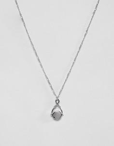 Ожерелье с подвеской Burton Menswear - Серебряный
