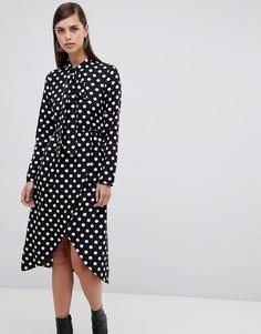 Платье миди в горошек с завязкой на бант Unique 21 - Мульти Unique21