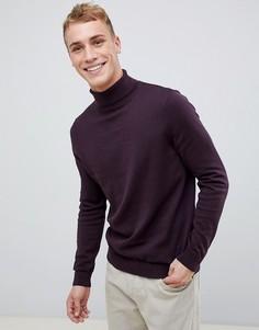Фиолетовый джемпер с отворачивающимся воротником New Look - Фиолетовый