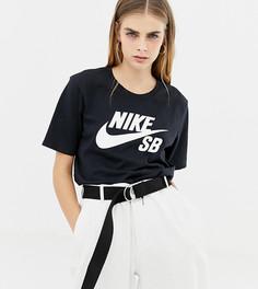 Черная футболка с логотипом Nike Sb - Черный