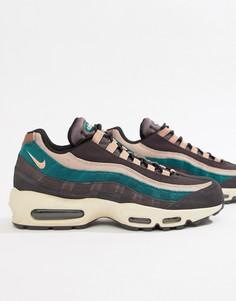 Серые кроссовки Nike Air Max 95 Premium 538416-018 - Серый