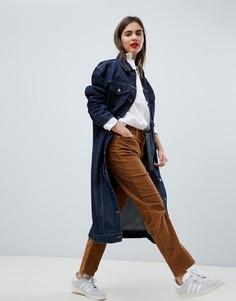 Вельветовые брюки табачного цвета прямого кроя с завышенной талией Levis - Коричневый