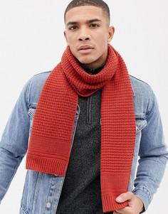 Фактурный вязаный шарф Ted Baker Auscarf - Оранжевый