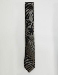 Галстук с цветочным принтом Harry Brown - Золотой
