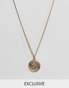 Золотистое ожерелье с подвеской Reclaimed Vintage inspired эксклюзивно для ASOS - Золотой