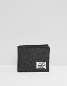Бумажник со штрихованной текстурой и RFID-защитой Herschel Supply Co Roy - Черный