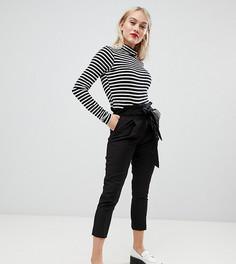 Черные брюки с поясом New Look Petite - Черный