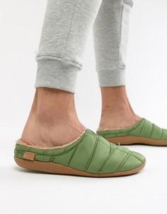 Зеленые стеганые слиперы TOMS Berkeley - Зеленый