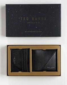 Подарочный набор с бумажником и визитницей Ted Baker Piaza - Черный