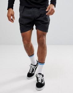Джинсовые шорты с эластичным поясом Levis Line 8 - Черный