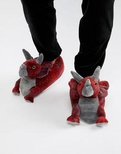 Слиперы трицератопс Loungeable - Красный