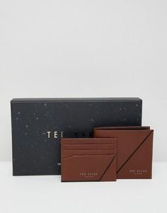 Подарочный набор с бумажником и визитницей Ted Baker Piaza - Коричневый