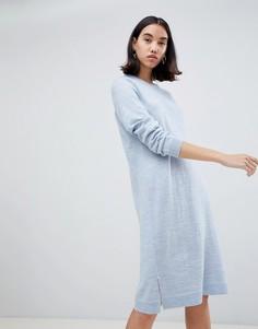Платье-джемпер с добавлением шерсти Selected Feileen - Синий