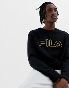 Черный свитшот с логотипом Fila Black Line Basil - Черный