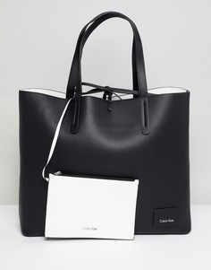 Двусторонняя сумка-шоппер Calvin Klein - Черный