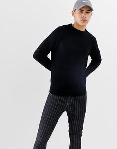 Джемпер с вафельной текстурой D-Struct - Черный