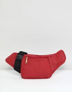 Сумка-кошелек на пояс из искусственной замши YOKI FASHION - Красный