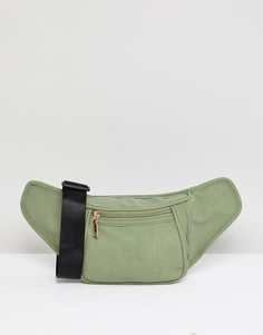 Сумка-кошелек на пояс из искусственной замши YOKI FASHION - Зеленый