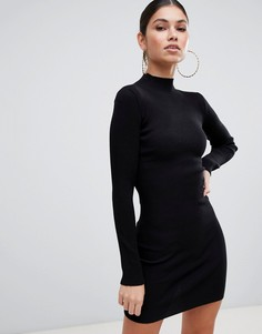 Базовое платье-джемпер с высоким воротником Missguided - Черный