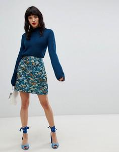 Жаккардовая юбка с цветочным принтом Vero Moda - Мульти