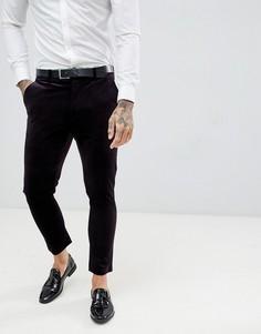 Бархатные брюки скинни Gianni Feraud - Фиолетовый
