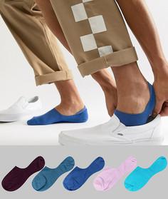 Набор из 5 пар невидимых носков разных цветов ASOS DESIGN - Мульти
