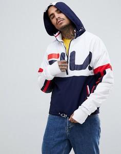Белая спортивная куртка с большим логотипом Fila Black Line Riker - Белый