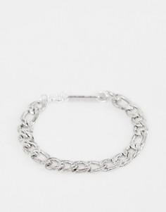 Серебристый браслет-цепочка Фигаро WFTW - Серебряный